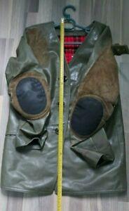 Vintage leather jacket Walther men shooting hunting Anschutz Feinwerkbau