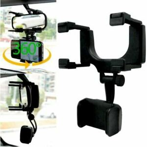 360° Car Rearview Mirror Mount Stand Holder Cradle For Cell Phone GPS Car Rear V