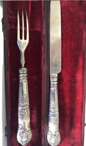 1820 Sheffield Silver Breakfast Set, Knife & Fork Aaron Hadfield