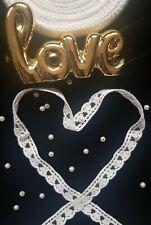 Vintage Style Lace Trim White Soft Net Wedding Sewing Bridal Ribbon - 1 yard