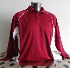 Washington Cougars SU Team Issue Men Russell Athletic Long Sleeve Polo Sz L NWOT