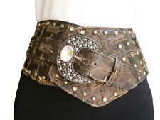 Unbranded Faux Leather Solid Wide Belts for Women