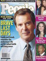 People Magazine August 22 2005 Peter Jennings Eddie Murphy Marilyn Monroe