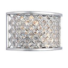 liberée Hudson 2LT Lampe Murale 60W effet chromé ASSIETTE & cristal clair (k9