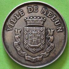 JETON VILLE DE MELUN SOC. HORTICOLE ET BOTANIQUE DE L'ARR. DE MELUN 1894 ARGENT