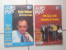 lot 2 revues d'échecs ECHEC ET MAT 57 et 62 ( 2002/2003)