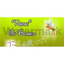 Disney Tinkerbell Personalised Baby On Board Car Sign (4)