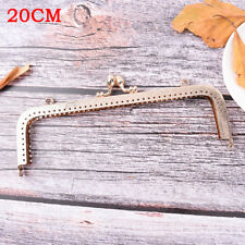 Light Gold DIY Purse Handbag Handle Coin Bag Metal Kiss Clasp Lock Framehandleat 20cm