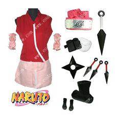 Cosplay Costüm Anime Naruto Haruno Sakura Kleidung Schuhe Waffen Lokoware CSN027