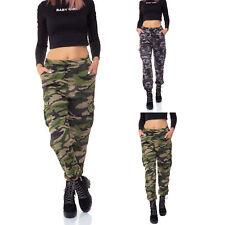 Damen Thermo Hose Fell Cargohose Camouflage Military Jogginghose 36 38 40 42