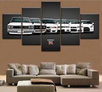 Nissan Skyline GTR Evolution 5 panel canvas Wall Art Home Decor Poster Print