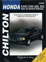 Honda Civic, CRX, and Del Sol, 1984-95 Repair Manual (Chilton Automotive Book…