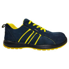 Blackrock Hudson Steel Toe Cap Safety Trainers Navy & Yellow Work Shoes (SF64)
