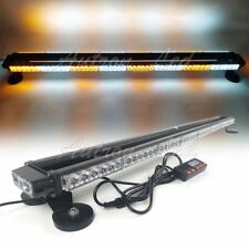 "49"" 102W LED Warn Emergency Beacon Tow Truck Signal Strobe Light Bar Amber White"