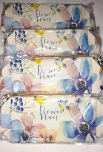 4 X Flower Make Up Bags, Wash Bags, Pencil Cases? Joblot bnwt zip handle resale