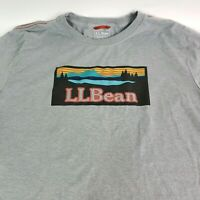 L.L. BEAN Spell Out Graphic T Shirt Slightly Fitted Short Sleeve Tee Men's XL T