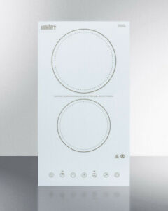 Summit Cr2b23t4w 2-Burner 230V Electric Cooktop in White - All