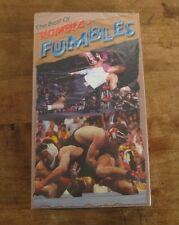 The Best of Rumble Fumbles 1999 NEW OLD STOCK Wrestling Bloopers VHS Tape Sealed