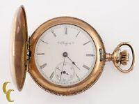 Elgin Grade 206 Full Hunter Gold Filled Pocket Watch 7 Jewel Size 6s 1903