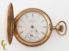 Elgin Grade 206 Full Hunter Gold Filled Pocket Watch 7 Jewel Size 6s 1903