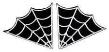 SPIDER WEB EMBROIDERED IRON ON PATCH SET biker vest cut goth death metal rock
