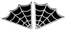 SPIDER WEB EMBROIDERED IRON ON PATCH SET biker vest cut goth death metal rock