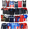 Marvel Superhero T-shirt Top Vest Mens Slim Sport Short Long Sleeve Jersey Shirt