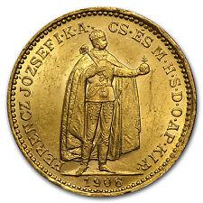 1892-1915 Hungary Gold 20 Korona XF/AU (Random) - SKU #35682