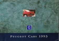 Peugeot 106 205 309 405 605 1992-93 UK Market Sales Brochure