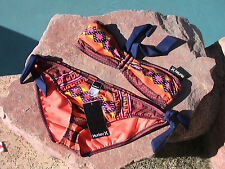 HURLEY SWIMWEAR BEACH BIKINI - NEW LARGE BOTTOMS - XSMALL TOP TIES