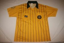 Official Sports Soccer Referee Jersey Men L Yellow NEW