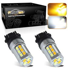 1pair LED Switchback 3157 4157 Front Turn Signal Light Lamp for Chevrolet