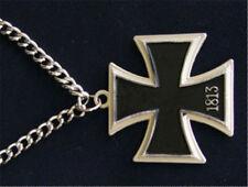 Hetalia Cosplay Costume APH German Prussia Black Metal Cross Necklace Chain Gift