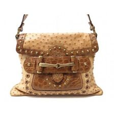 GUCCI Crocodile and Ostrich Pelham Luxurious Limited Edition Bag Handbag Purse