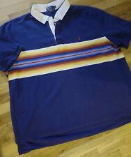 Vintage Polo Ralph Lauren Striped Rugby Style Short Sleeve Shirt Xl 5Xl Xxxxxl
