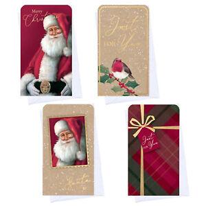 Christmas Money Wallet & Envelope Pack of 4 - Traditional / Santa Designs