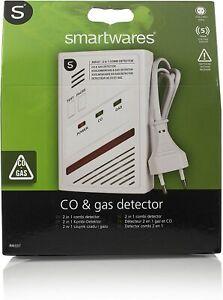 Smartwares 4-in-1 Kombi-Detektor, Kohlenmonoxid- und Gas-Melder (Butan, Propan