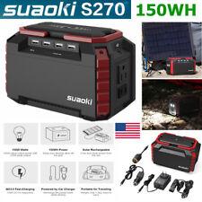 150WH Suaoki Portable Charging Station Power Bank Solar Generator Jump StarterAC