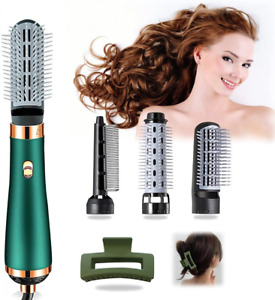 Hair Dryer Brush, 4 in 1 Hot Air Brush Comb, One Step Green