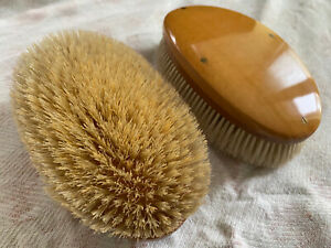 Pair of Vintage Wooden Clothes Brushes