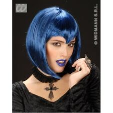 BLUE GOTHIC VAMP WIG Accessory for Emo Goth Vampire Halloween Fancy Dress