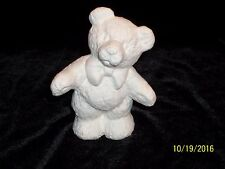Standing Teddy Bear with Bow  - Ceramic Bisque Ready to Paint
