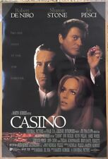 CASINO MOVIE POSTER 2 Sided ORIGINAL FINAL ROLLED VF 27x40 ROBERT DE NIRO