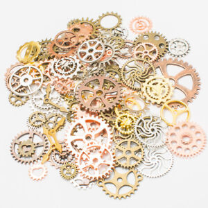 110pcs Steampunk Retro Metal Mixed Gears Cog Wheel Charms Pendant Sets Handwork