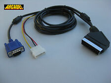 VGA TO SCART RGB ARCADEVGA CABLE ADAPTER 1.6M  ( EUROCONECTOR ) for JAMMA system
