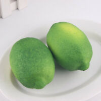 NEW Lifelike Artificial Lemon Plastic Fake Fruit Food Home Decor Decoration x1