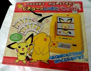 vintage tomy japan pokemon mix em match em machine game spinner pichu brand new
