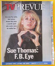 Deanne Bray SUE THOMAS: F.B.EYE Chicago Sun-Times TV Prevue guide Oct 13 2002