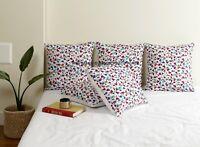 Luxuriös Gesteppt Baumwolle Weiß Blumenmuster Überwurf Kissenbezug Sofa 45cm