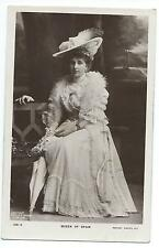 ROYALTY -  QUEEN of SPAIN Rotary Real Photograph Postcard
